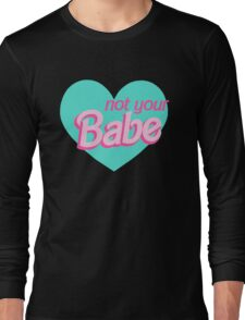 Not Your Babe Pastel Hearts Long Sleeve T-Shirt