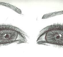 Airplane Eyes by Tiffysketch