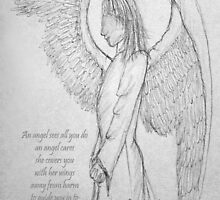 An angel's arms at Christmas by David Hayes