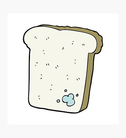 cartoon mouldy bread Photographic Print