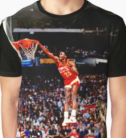 NBA - Dominique Wilkins Graphic T-Shirt