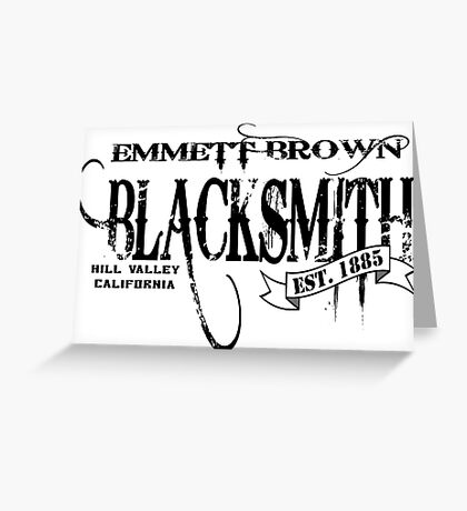 Doc Brown Blacksmith Greeting Card