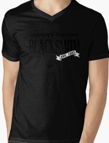Doc Brown Blacksmith Mens V-Neck T-Shirt