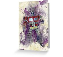 G1 - Optimus Prime Greeting Card