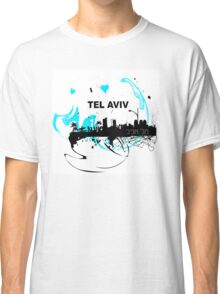 Art skyline of the Mediterranean Sea, Tel Aviv, Israel  Classic T-Shirt