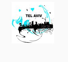 Art skyline of the Mediterranean Sea, Tel Aviv, Israel  Unisex T-Shirt