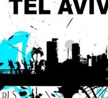 Art skyline of the Mediterranean Sea, Tel Aviv, Israel  Sticker