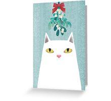 Mistletoe? Greeting Card