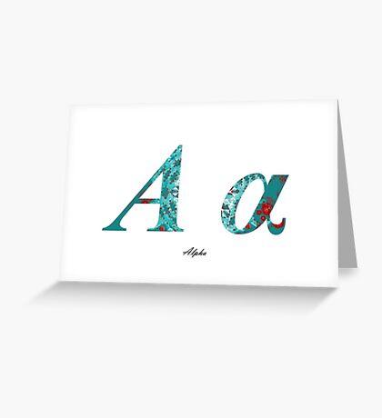 Alpha Greek Alphabet Greeting Card