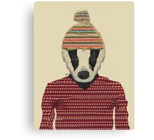 Seb the badger  Canvas Print