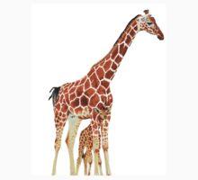 Giraffe Art - A Mother's Love - By Sharon Cummings Kids Tee