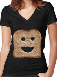 Devious Toast Women's Fitted V-Neck T-Shirt