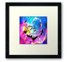 Never Grow U p Nebula Blue Framed Print