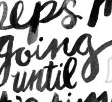 Coffee & Wine – White Ink Sticker