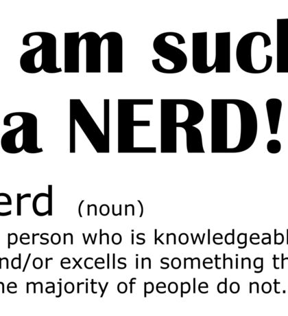 Modern Nerd Definition Sticker