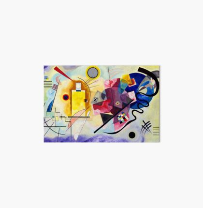 jaune rouge bleu Vassily Kandinsky abstract Art Board