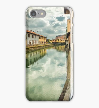 Italian canal with houses iPhone Case/Skin