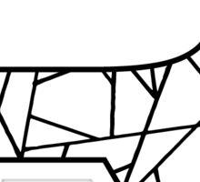 R Geo Letter Sticker