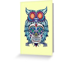 Sugar Skull Owl Greeting Card