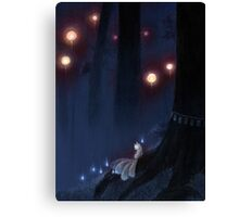 Forest Ghost - Kitsune Fox Yokai  Canvas Print