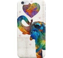 Colorful Elephant Art - Elovephant - By Sharon Cummings iPhone Case/Skin