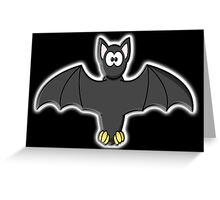 Bat, Cartoon, Halloween, Dracula, Vampire, Horror Greeting Card