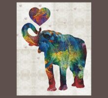 Colorful Elephant Art - Elovephant - By Sharon Cummings Kids Clothes