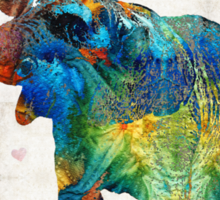 Colorful Elephant Art - Elovephant - By Sharon Cummings Sticker