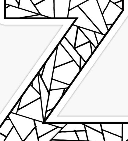 Z Geo Letter Sticker