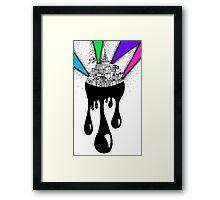 A Neon City Framed Print