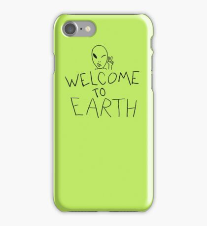 Welcome to Earth iPhone Case/Skin