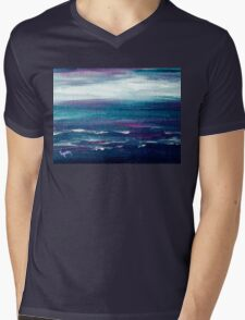 Nite Over Maui Mens V-Neck T-Shirt