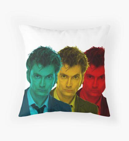 David Tennant colours Throw Pillow