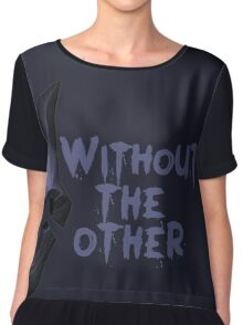 Without the other Wolf Kindred (part) Chiffon Top