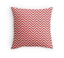 Chevron Red and white Throw Pillow