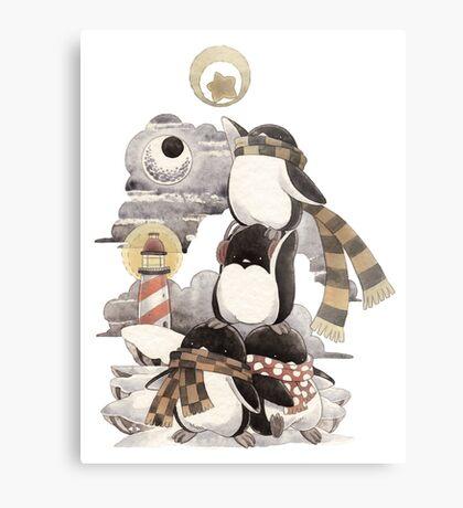 Penguins intrepid Metal Print
