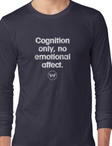 Cognition only - westworld park code  Long Sleeve T-Shirt
