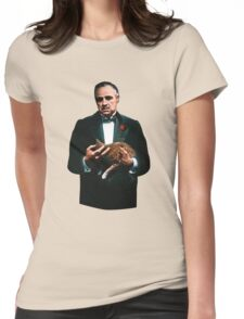 The Godfather's Cat Womens Fitted T-Shirt