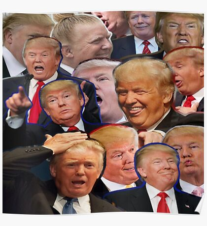 Donald Trump Collage Poster