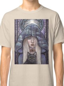 Nauthiz Rune Maiden black cat sorceress Classic T-Shirt