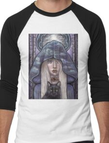 Nauthiz Rune Maiden black cat sorceress Men's Baseball ¾ T-Shirt