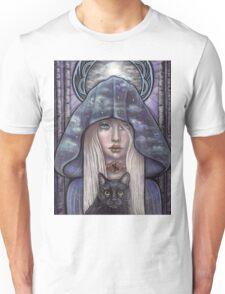 Nauthiz Rune Maiden black cat sorceress Unisex T-Shirt