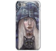 Nauthiz Rune Maiden black cat sorceress iPhone Case/Skin