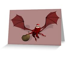 Santa Claus Bat Greeting Card