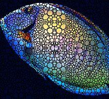 Tropical Fish Art 6 - Painting By Sharon Cummings by Sharon Cummings