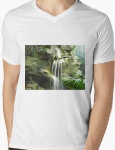 Waterfall Mens V-Neck T-Shirt