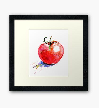 watercolor tomato Framed Print