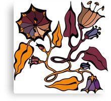 Autumn flowers. Art Deco Canvas Print