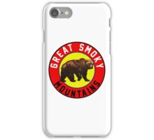 GREAT SMOKY MOUNTAINS BEAR VINTAGE TENNESSEE NORTH CAROLINA iPhone Case/Skin