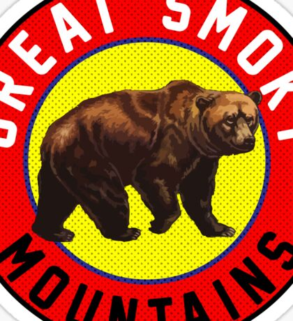 GREAT SMOKY MOUNTAINS BEAR VINTAGE TENNESSEE NORTH CAROLINA Sticker